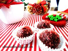 truffle with pomegranate