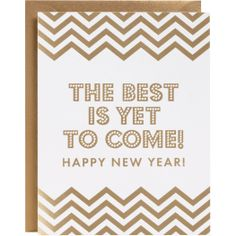 Best Is Yet To Come Chevron New Year Cards - PaperSource