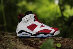 hot sale online d3766 ce11d Air Jordan 6 Retro Carmine   Release Reminder Latest Sneakers, Retro  Sneakers, Sneakers Fashion
