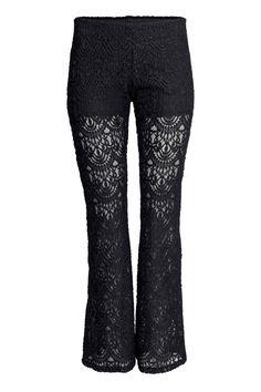 Pantaloni svasati in pizzo | H&M