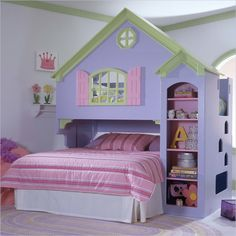 Image detail for -... bunk bed,dollhouse bunk beds,doll house twin bed,tradewins castle bunk.... OMG want these for my girls