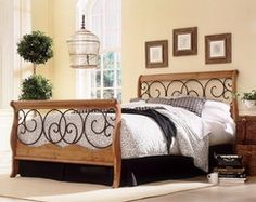 Fashion Bed Group Dunhill I Autumn Brown And Honey Oak Full Headboard Only Rustic Wood Bed Frame, Wood Bed Frame Queen, Wood Table Rustic, King Bed Frame, Full Headboard, Headboard And Footboard, Cama Vintage, White Wood Floors, Wood Beds