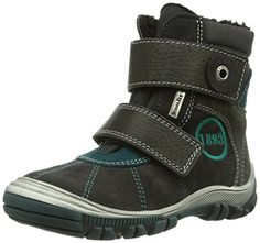 Richter Kinderschuhe Linz – Zapatos primeros pasos de cuero para niño, color gris, talla 28 EU (10 Baby UK)
