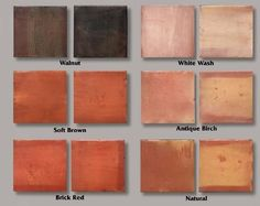 still trying to sell my husband on mexican / saltillo tile for the house stained dark brown.