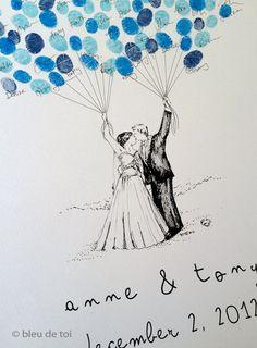 Custom+Couple+Thumbprint+Balloon+The+original+by+bleudetoi+on+Etsy,+$75.00