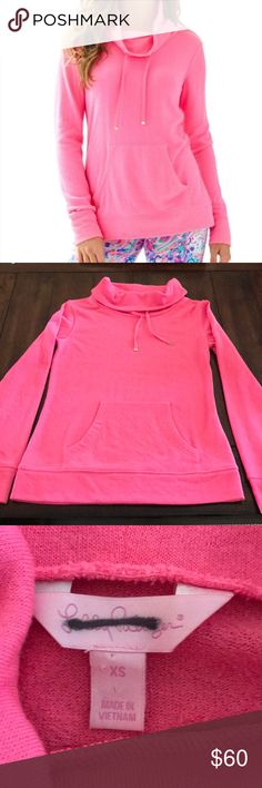 Lilly Pulitzer Hillary pink pullover Lilly Pulitzer Hillary pink pullover. Purchased from someone NWT and I'm thinking it was maybe purchased at TJ Maxx due to the black line through the Lilly tag. Nothing wrong with it though. Washed twice and hung to dry. No pilling or fading. Just needed a small instead. Goes great with a lot of Lilly. Lilly Pulitzer Tops Sweatshirts & Hoodies