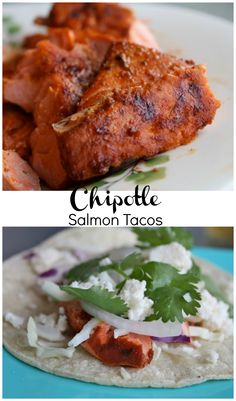 Chipotle Salmon Tacos | Aggie's Kitchen