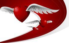 Flying Love Hearts WallPaper HD - http://imashon.com/love/flying-love-hearts-wallpaper-hd.html