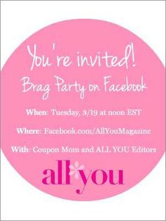 You're invited! Win awesome prizes during our smart shopping Facebook Party on Tuesday, March 19!