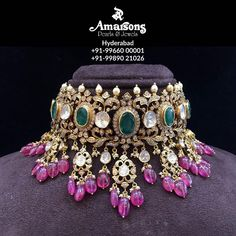 Indian Jewelry Sets, Indian Wedding Jewelry, Bridal Jewelry Sets, Bridal Jewellery, India Jewelry, Temple Jewellery, Fancy Jewellery, Gold Jewellery Design, Stylish Jewelry