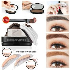 Eyebrow stamp 3 colours 2 styles by Lost but Found Newest 6 Styles Eye Makeup Eyebrows Styling Tool Eyebrow powder seal Easy to Wear Eyebrow Powder Makeup With Brow Stamp Tweezing Eyebrows, Thin Eyebrows, Threading Eyebrows, Perfect Eyebrows, Shape Eyebrows, Cut Crease Makeup, Eyebrow Makeup, Eyebrow Tips, Eyebrow Wax