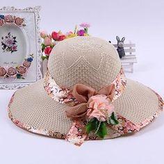 女性のストロー帽子ボーラー太陽わら帽子ファッション帽子キャップ帽子の女性の卸売仕入れ、問屋、メーカー・生産工場・卸売会社一覧 Fancy Hats, Cute Hats, Painted Hats, Hat Decoration, Hat Crafts, Kawaii Clothes, Hat Making, Headgear, Fascinator