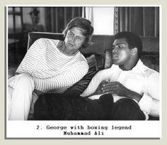 George Plimpton and Muhammad Ali