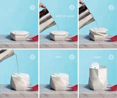 uWaoww..An Origami-Like Bowl That Expands When You Add Water | Co.Design: business + innovation + design
