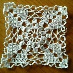 Crochet Motifs, Crochet Blocks, Granny Square Crochet Pattern, Crochet Stitches Patterns, Crochet Chart, Crochet Squares, Filet Crochet, Irish Crochet, Crochet Doilies