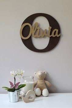 Wooden Letters, Baby Nursery Wall Hanging Letters in Script Font, Baby Name Sign, Kids Room Decor, Wood Letters - New Site Hanging Letters, Wood Letters, Cnc Projects, Projects To Try, Baby Name Signs, Wooden Signs, House Warming, Diy And Crafts, Kids Room