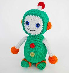 Amigurumi Pattern for Crochet Toy Robot by HerterCrochetDesigns