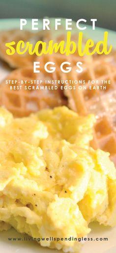 Best Scrambled Eggs Recipe   How to Make Perfect Scrambled Eggs   Best Easy Breakfast Recipes   Brunch Ideas via lwsl