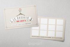 Création carte de fidélité boutique prêt à porter Le boudoir de Zita à Mouvaux (59)
