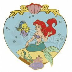 DISNEY PINS ARIEL and FLOUNDER LE 500