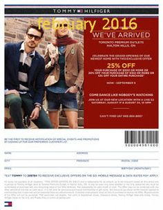 Tommy Hilfiger coupons & Tommy Hilfiger promo code inside The Coupons App. off everything & more at Tommy Hilfiger, or online via promo code THILBTS May Free Printable Coupons, Free Printables, Canadian Free Stuff, Dollar General Couponing, Coupons For Boyfriend, Love Coupons, Online Coupons, Extreme Couponing, Coupon Organization