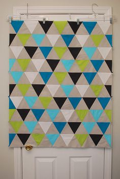 Triangle Quilt! wow.