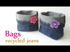 (16) DIY crafts: BAGS recycled jeans (very EASY) - Innova Crafts - YouTube
