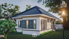 10 Contemporary House Designs With Floor Plan Perfect for Modern Family Bungalow House Plans, Bungalow House Design, Modern Bungalow, Modern House Plans, Small Cottage Designs, Small House Design, Modern House Design, Beautiful Small Homes, Home Design Floor Plans