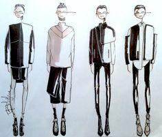 Fashion Sketchbook - fashion design sketches; lineup; fashion illustrations // Fashion student portfolio