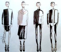 Fashion Sketchbook - fashion design sketches; lineup; fashion illustrations // Fashion student portfolio