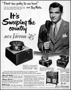 RCA VICTOR 45 RPM RECORDS ad from 1950