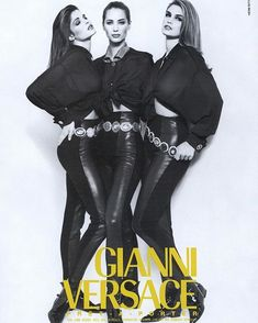 """vivaversace: """"Stephanie Seymour, Christy Turlington, and Cindy Crawford photographed by Herb Ritts, Versace 1994 """" Presley Gerber, High Fashion, Fashion Beauty, Stephanie Seymour, Christy Turlington, Cindy Crawford, Gianni Versace, Girl Crushes, Passion For Fashion"""
