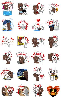 They might seem like LINE's most adorable couple, but Brown and Cony have their fair share of lonely spells too! These stickers are perfect for when all you need is someone to chat with a little longer or those quiet evenings when you can't wait for your beau to get off work!