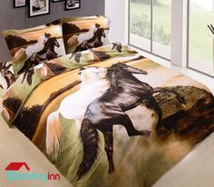Creative 3D Horses Bedding Sets Buy it-->http://goo.gl/kLGZK5 Discover more-->http://goo.gl/2vczVu Live a better life, start with Beddinginn http://www.beddinginn.com/product/3D-White-and-Black-Horses-Print-4-Piece-Bedding-Sets-Comforter-Sets-10689799.html