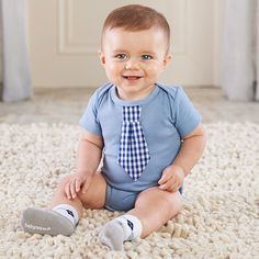 """Little Man"" Bodysuit and Sock Set"