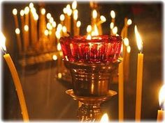candles All Saints' Day in Greece and more. All Saints Day, Christian Devotions, Prayer Request, Birthday Candles, Lanterns, Greece, Candle Holders, Prayers, Religion