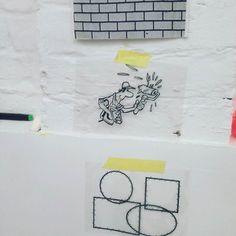 """Sindy (Elke Van Kerckvoorde and Dieter Durinck) working on their solo project """"Decoratieve schilderwerken"""" for the Next Level exhibition during the Antwerp Art Weekend #sindy9050 #studio #painting #quiteready #nextlevelexhibition #antwerpartweekend by trampolinegallery"""