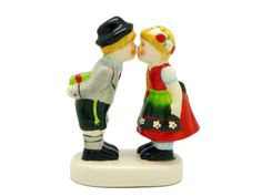 German Kissing Couple. Great as a Cake Topper.