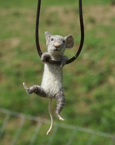Tiny Mouse Necklace- this is so cute as a photo! hehe