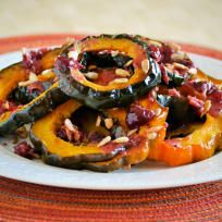 Roasted Acorn Squash with Cranberry Sauce Recipe