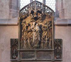 Nürnberg. Frauenkirche: Pergenstorffer Epitaph (Adam Kraft, 1498) Nürnberg Nuremberg  Germany Alemania Deutschland