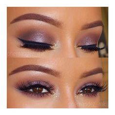 Purple Smokey Eye and Lashes