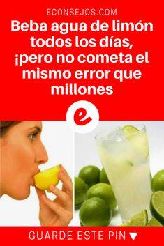 Agua de limon recetas | Beba agua de limón todos los días, ¡pero no cometa el mismo error que millones | Aquí te diremos de qué manera prepararla.