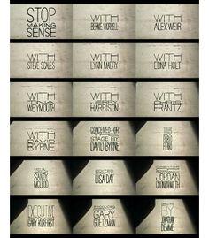 Stop Making Sense (1984)  (Titles Mosaic) bu Pablo Ferro (title designer: main title sequence)