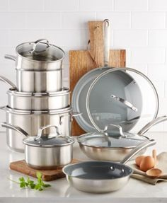 Culinary Science by Martha Stewart Collection 14-Pc. Cookware Set, Created for Macy's   macys.com