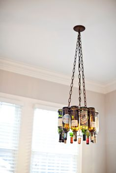 This light fixture is so clever! Adds an element of style and color!