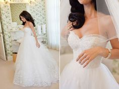 Oscar De La Renta Wedding Gown ... not always a big fan of strapless gowns, but this is stunning