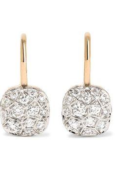 Pomellato - Nudo 18-karat Rose Gold Diamond Earrings - one size