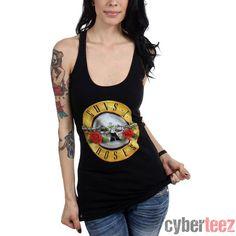 Calhoun Guns N Roses Bullet Logo Mens Tank Top