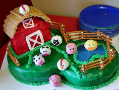 Jerrick's Farm Birthday Cake and Cake Pops!